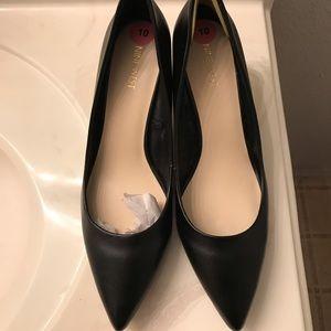 Black Nine West low heels